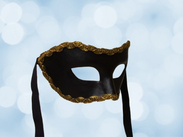 Black Party Mask