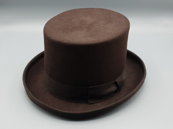 Brown Steampunk top hat, large - 59 cm