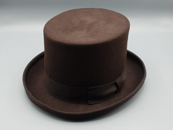 Brown Steampunk top hat, small - 56 cm