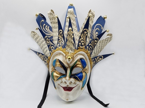 Blue Venetian Joker mask boris brejcha