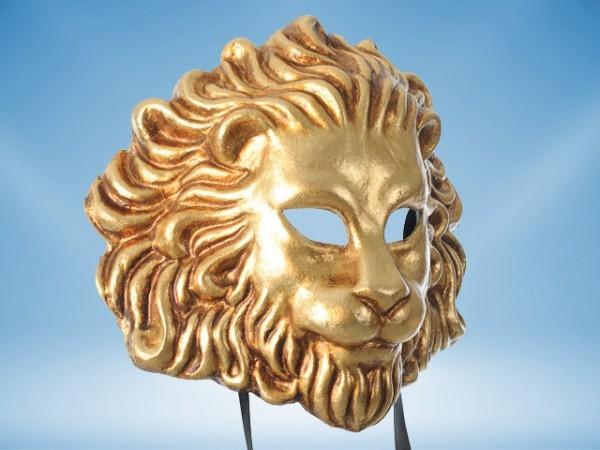 Golden lion mask