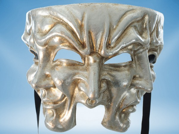 Halloween mask in silver