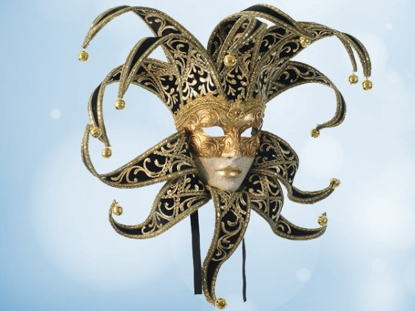 Jester mask in black velvet