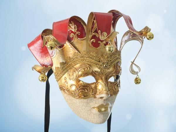 Venetian wall mask in red