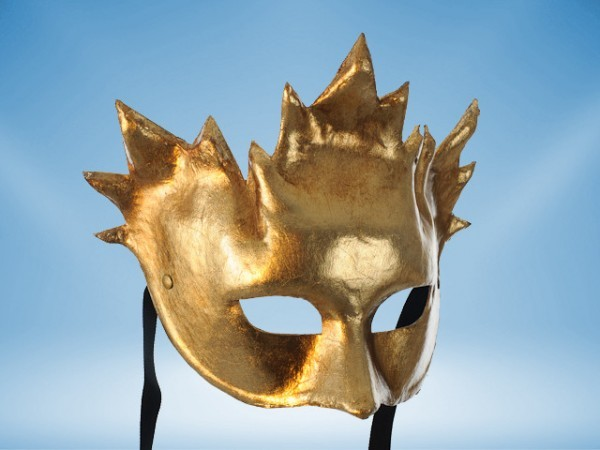 Mask Bacchus in gold