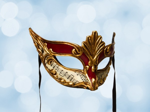 Masked ball mask in red