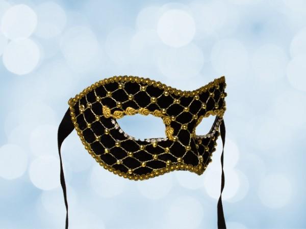 Masquerade ball mask in black
