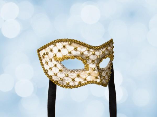 Masquerade ball mask in cream