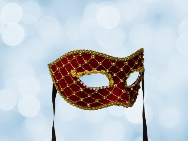 Masquerade ball mask in red