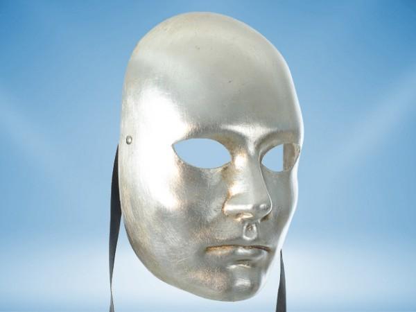 Black full-face costume mask