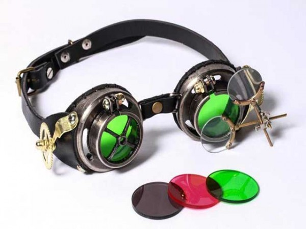 "Steampunk goggles ""Magnifying glass"""