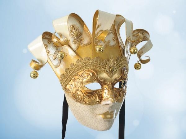 Venetian wall mask in white