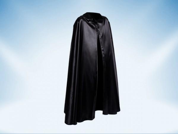 Venetian costume cloak with collar in black satin